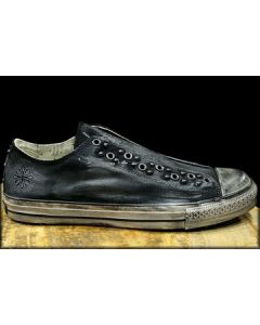 Affliction Kodel No Lace Slip On Mens Low Top Canvas Sneaker Shoes in Brushed Black - ONLY SIZE 11 LEFT - RARE!