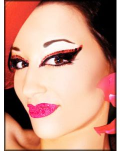 Xotic Eyes and Body Art Lip Kisses Tattoo Glitter Womens Lipstick Reusable Makeup in Neon Pink