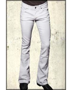 Lip Service Rocker Fit 5 Pocket Stretch Denim Mens Bootcut Jeans in White - ONLY SIZE 36 RARE