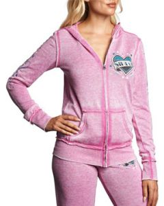 Sinful Annabelle Heart Banner Stars Angel Wings Ribbon Tattoo Womens Long Sleeve Zip Front Hoodie in Pink - SIZES XS-L