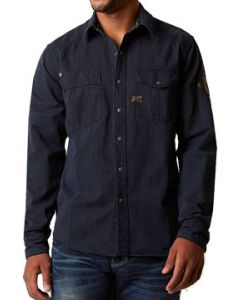 Affliction Power Of Blue Solid No Graphics Mens Long Sleeve Snap Button Up Woven Dress Shirt in Dark Indigo Blue - UP TO SIZE XL