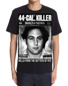 Killers Never Die Son Of Sam 44 CAL Killer David Berkowitz True Crime Murder Mystery Serial Killer Mens Short Sleeve T-Shirt in Black - UP TO SIZE 3XL