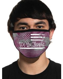 Howitzer By Affliction We The People USA Flag Patriot Military Moto Mens Womens Unisex Face Mask in Pink Camo - Washable Reusable