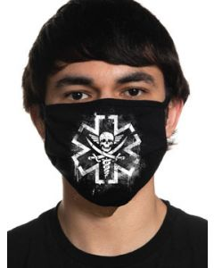 Howitzer By Affliction Tactical Medic EMS EMT Paramedic Skull Caduceus Military Mens Womens Unisex Face Mask in Black - Washable Reusable