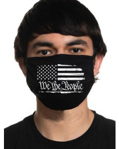 Howitzer By Affliction We The People USA American Flag Patriot Military Moto Mens Womens Unisex Face Mask in Black - Washable Reusable