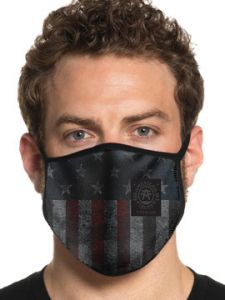 American Fighter by Affliction Freedom USA Flag Stars Stripes UFC MMA Sports Athletic Fashion Mens Womens Unisex Face Mask in Grey - Washable Reusable