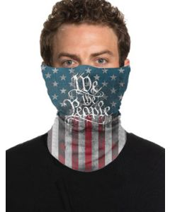 Howitzer By Affliction Painted Freedom We The People American Flag Patriot Military Mens Womens Unisex Loop Neck Gaiter Scarf Face Mask in Blue