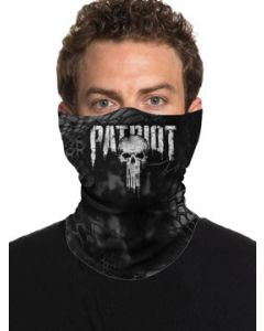 Howitzer By Affliction Kryptek Patriot Skull Punisher American Flag Military Mens Womens Unisex Loop Neck Gaiter Scarf Face Mask in Black Camo
