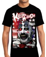 Killers Never Die The Sideshow Sig Haig Captain Spaulding Clown House Of 1000 Corpses Movie Mens Short Sleeve T-Shirt in Black - UP TO SIZE XXXL / 3XL