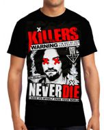 Killers Never Die Charles Manson I'm Not Of This Generation X Myself Mens Short Sleeve T-Shirt in Black - UP TO SIZE LARGE