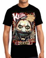 Killers Never Die Twisty Candy Clown American Horror Story Freak Show Mens Short Sleeve T-Shirt in Black - UP TO SIZE XXXL / 3XL