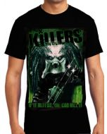 Killers Never Die Jungle Hunter The Predator Movie Alien Trophy Science Fiction Horror Mens Short Sleeve T-Shirt in Black - UP TO SIZE XXXL / 3XL